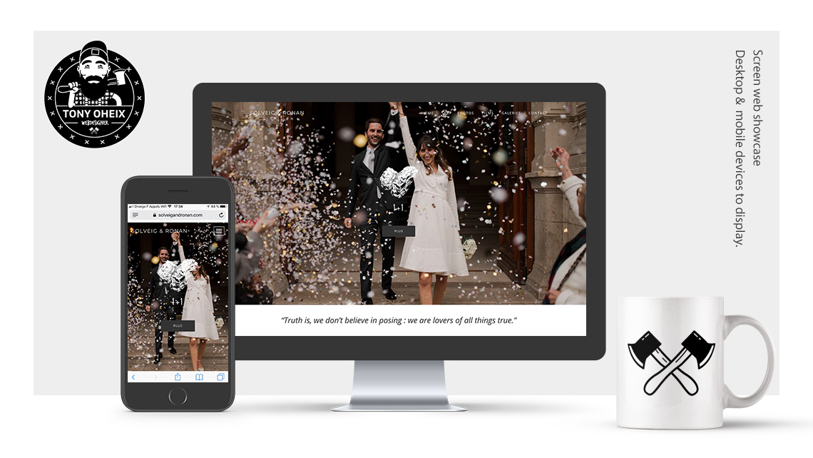 Création de site internet à Caen Photographe mariage