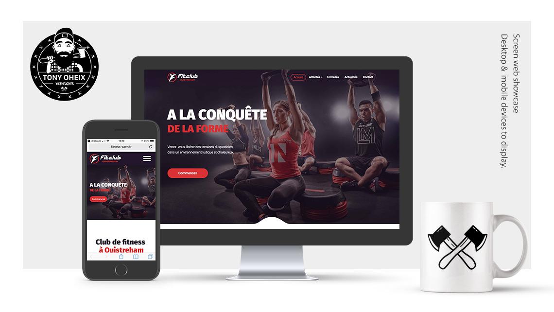 Création de site internet à Caen Club de Fitness