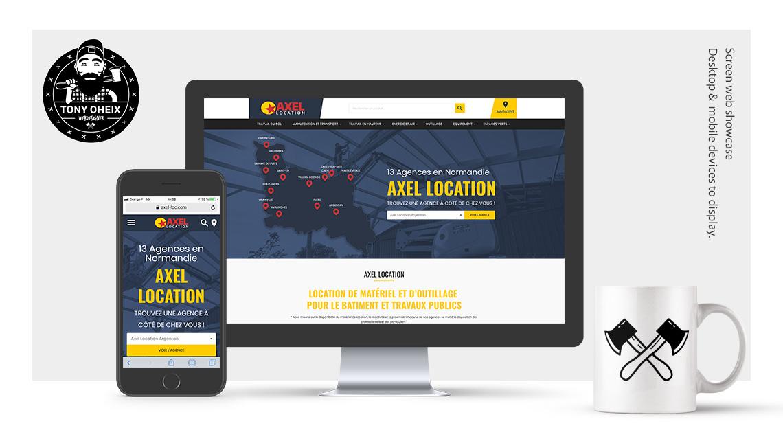 Création de site internet à Caen Location matériel BTP